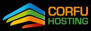 Corfu Hosting Logo - Black